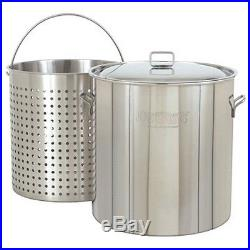 Bayou Classic 1122 122 Qt. Stainless Stockpot NEW