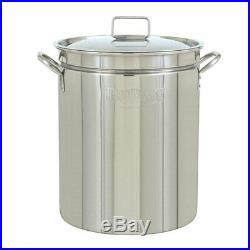 Bayou Classic 24 Quart Stainless Steel Boil Fry Steam Cook Soup Stockpot with Lid