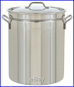 Bayou Classic 36 QT Stainless Steel Stockpot With Vented Lid 20 Gauge Pot