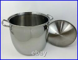 Belgique Classique 20 Qt Tools Of The Trade Stainless Steel Stock Pot Vented Lid