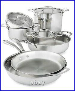 Belgique Stackable 10-Pc. Stainless Steel Cookware Set