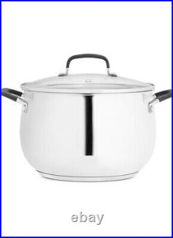 Belgique Stainless Steel 8-Qt. Stock Pot with Multi-Use Insert