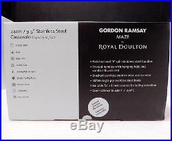 Brushed Stainless GORDON RAMSAY Maze ROYAL DOULTON 6qt Stock Pot w Lid 40010713