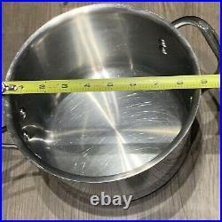Calphalon 3 PC SET Stainless Steel 3Qt Skillet Pan 5003 & 4.5QT Stock pot 870412