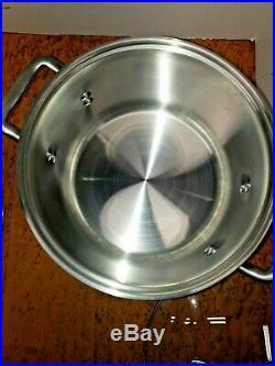 Calphalon 808 Stainless Steel 8 qt quart Stock Pot Steamer Pasta Baskets Lot