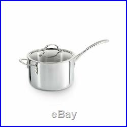 Calphalon Cookware Sauce Pan Tri Ply Stainless Steel 4 1/2 Quart 4.5 Qt 1767983