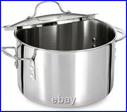Calphalon Tri-Ply Stainless Steel 8-Quart Stock Pot with glass Cover