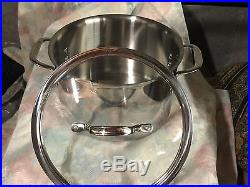 Calphalon Tri-ply Stainless Steel 6 Qt Stock Pot With Tempered Glass LID