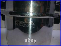 Chef's Ware Townecraft T304 Stainless 4 Qt Stockpot Dutch Oven Casserole Pan Lid