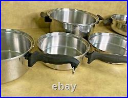 Chef's Ware Townecraft Waterless Cookware T304 Stainless MultiCore 7 Pcs USA
