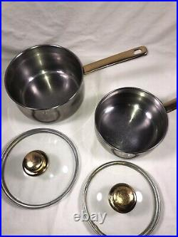 Command Performance Gold Cuisine Cookware Stainless Steel 13 piece set