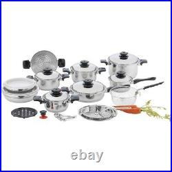 Cookware Chef Secret Kitchen 28 piece 12-Element Stainless Steel Waterless