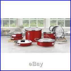 Cookware Set 11 Piece Stainless Steel Frying Pan Saucepan Stock Pot Lids Cooking