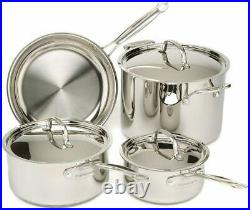 Cuisinart 77-7 Chef's Classic Stainless Steel Cookware Set of 7- Silver