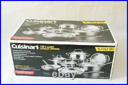 Cuisinart Chef's Classic Stainless 11-Piece Cookware Set Induction compatible