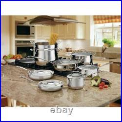 Cuisinart Cookware Set 13-Piece Dutch Oven Pan Pot Lid (Stainless Steel)