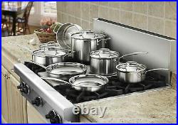 Cuisinart MultiClad Pro Triple-Ply Stainless Steel 12 Piece Cookware Pots Pans