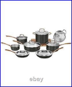 Cuisinart Onyx Stainless Steel Cookware Pan Set Black MBS7-12 Open Box