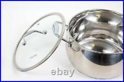 David Burke Gourmet Pro Splendor Stainless Steel 9-quart Sauce Pot with Lid