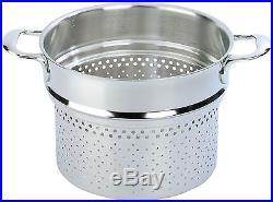 Demeyere Atlantis Pasta Insert (Fits 8.5-qt Stock Pot) Stainless Steel 8 QT