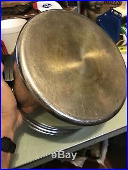 EUC Vintage SaladMaster T304S Stainless Steel 6 Quart Stock Pan Pot with Vapo-Lid