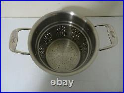 Emeril 8 Qt Stock Pot All Clad Copper Core Stainless Steel & Pasta Pot Insert