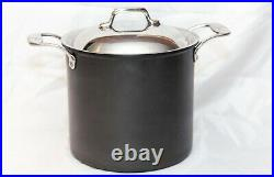 Emeril All Clad 8 Qt Stock Pot With Stainless Steel Lid Anodized Nonstick
