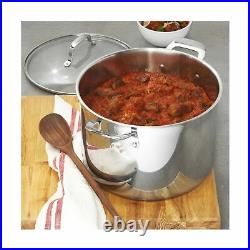 Emeril Lagasse Stainless Steel Stock Pot With Lid, 12-Quart, Induction Compat