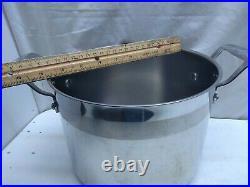 Emeril Stainless 6 Qt Stockpot Dutch Oven Sauce Pot Fry Pan & Glass & Lid