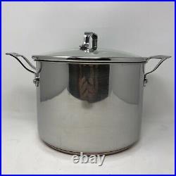 Emeril Stainless / Copper Core 6-Piece Stock Pot & Sauce Pan Set Bright Finish