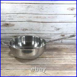 Emeril by All Clad 4 QT Sauce Pan Pot Stainless Steel Frying Grilling Deep EUC