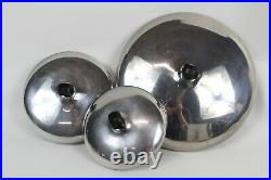 FARBERWARE Vintage Stainless Steel Cookware Pots And Pans Set 7 Pc Set With Lids