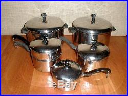 Farberware Aluminum Clad Stainless Steel 11 Pieces Two 8 Qt Stock Pots +++