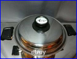 GENTLY USED! Americraft Stainless Steel 4 Qt Stock Pot Waterless With Lid