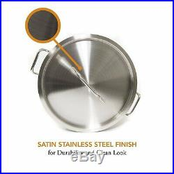 Gas One 100 Quart Stainless Stock Pot Lid & Steamer rack Tamale Beer Brew Kettle