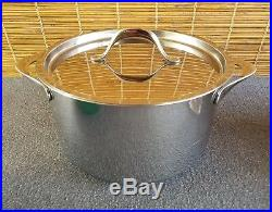 Giada De Laurentiis for Target Bonded Base Stainless Stock Pot Pan with Lid USED