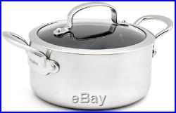 Greenpan 3.1 Litre Stainless Steel Induction Casserole Stock Pot & Lid Induction