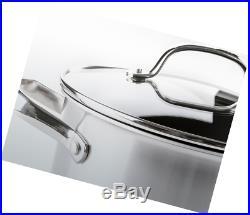 Greenpan Elements Ceramic Non-Stick Stock pot, Stainless Steel, 24 cm, 7.7L