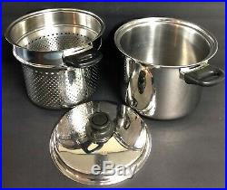 HEALTH CRAFT 5 PLY STAINLESS 6 1/2Qt Waterless Stock Pot With Steamer Insert