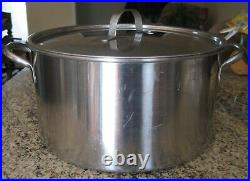 HUGE! Heavy Vintage Carrollton Stainless Steel Stock pot. Possibly Military Issue