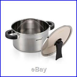 HappyCall 3-PLY STAINLESS STEEL Pot 6pcs Set (3 Pot+3 Lid), Saucepan, Stockpot