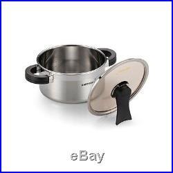 HappyCall 3-PLY STAINLESS STEEL Stock Pot 10pcs Set (5 Pot + 5 Lid), Sauce Pan