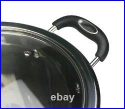Induction Steel Stock Pot Large Deep Stainless Casserole Stockpot Heavy Duty