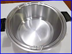 KITCHEN CRAFT Americraft 8 QT Stock Pot 7 Ply Surgical Stainless Waterless USA