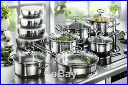 Karcher Jasmin Induction Stainless Steel Pots 20 Pcs Pans Saucepan Sets