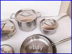 Kirkland Signature 10-piece 5-ply Clad Stainless Steel Cookware Gently Used