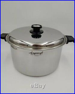 Kitchen Craft 16 QT Stock Pot 7PLY Stainless Americraft Cookware Made USA NEW