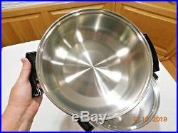 Kitchen Craft 8 Qt Stock Pot & Dome LID 5ply Multicore Stainless Steel West Bend