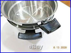 Kitchen Craft 8 Qt Stock Pot & Steamer 5ply T304 Stainless Steel West Bend