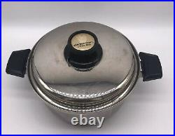 Kitchen Craft By West Bend 4 Quart Stainless Stock Pot with Vented Lid Pre Owned